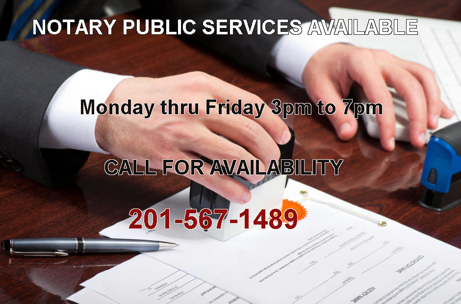 Notary Public Services Available